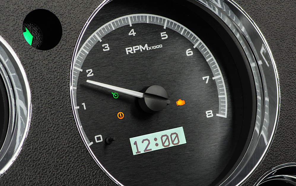 Black Alloy Background, White Lighting with Indicators shown