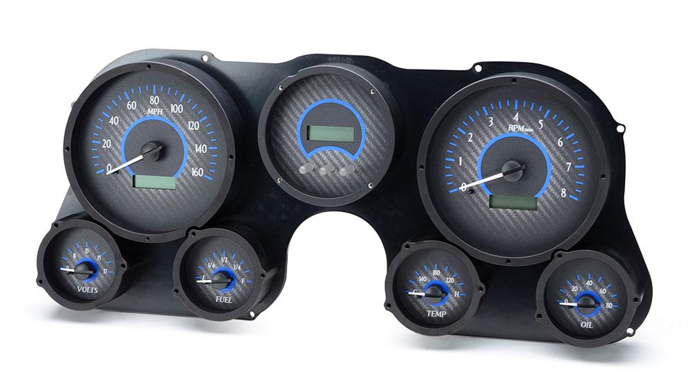VHX-67C-PU: Carbon Fiber Background, Blue Lighting