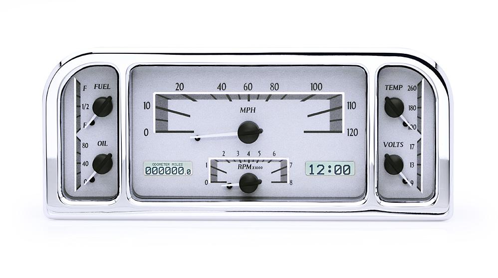 VHX-37F-S-W: Silver Alloy Background, White Lighting