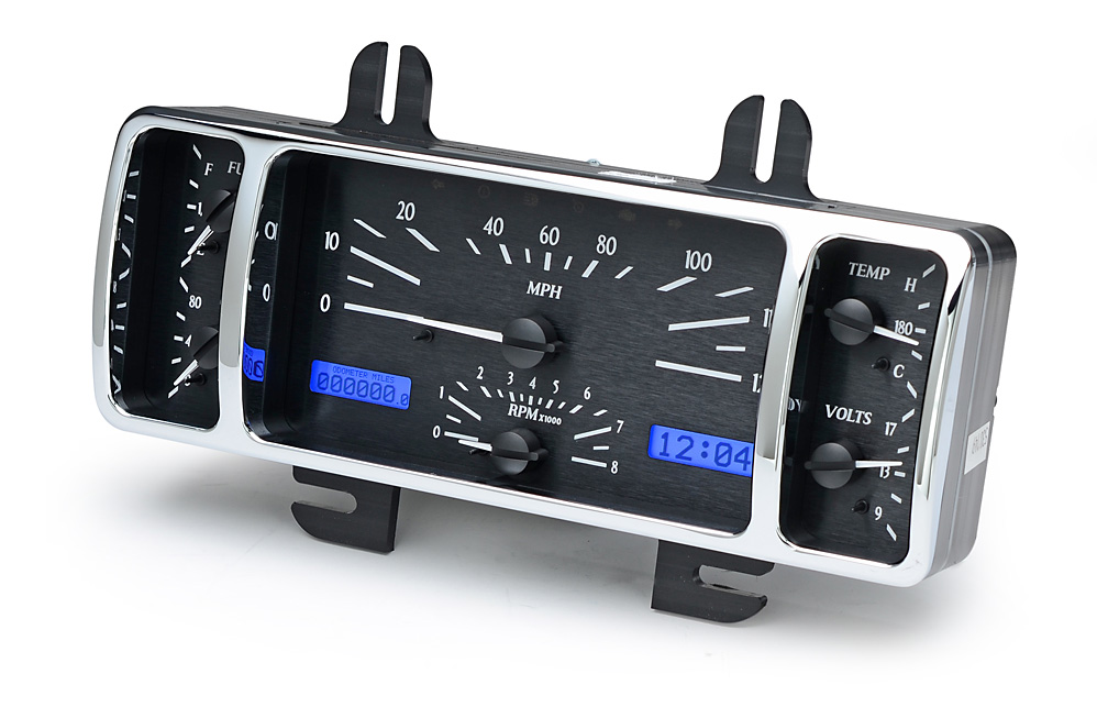 VHX-40F-K-B: Black Alloy Background, Blue Lighting