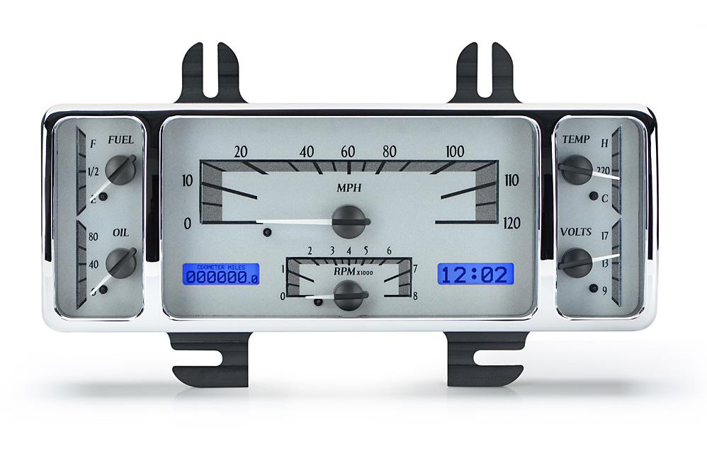 VHX-40F-S-B: Silver Alloy Background, Blue Lighting