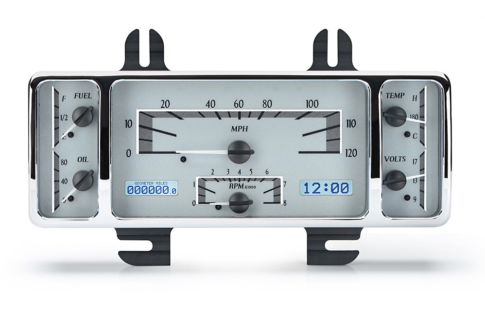 VHX-40F-S-W: Silver Alloy Background, White Lighting