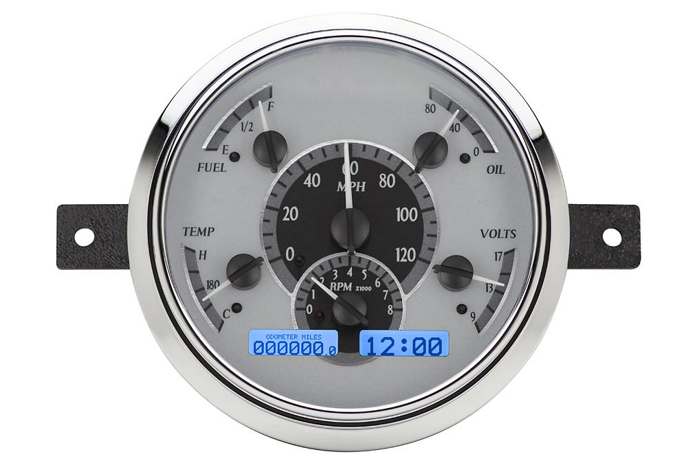 VHX-49F-S-B: Silver Alloy Background, Blue Lighting