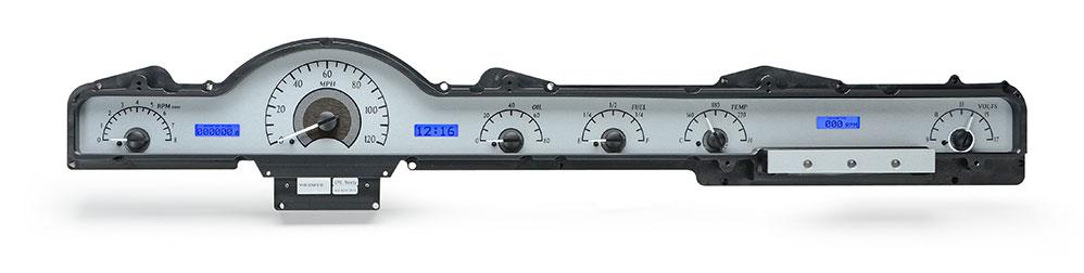 VHX-50M-S-B: Silver Alloy Background, Blue Lighting