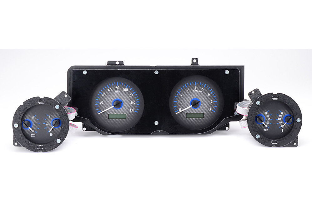 VHX-69F-MUS-C-B: Carbon Fiber Background, Blue Lighting