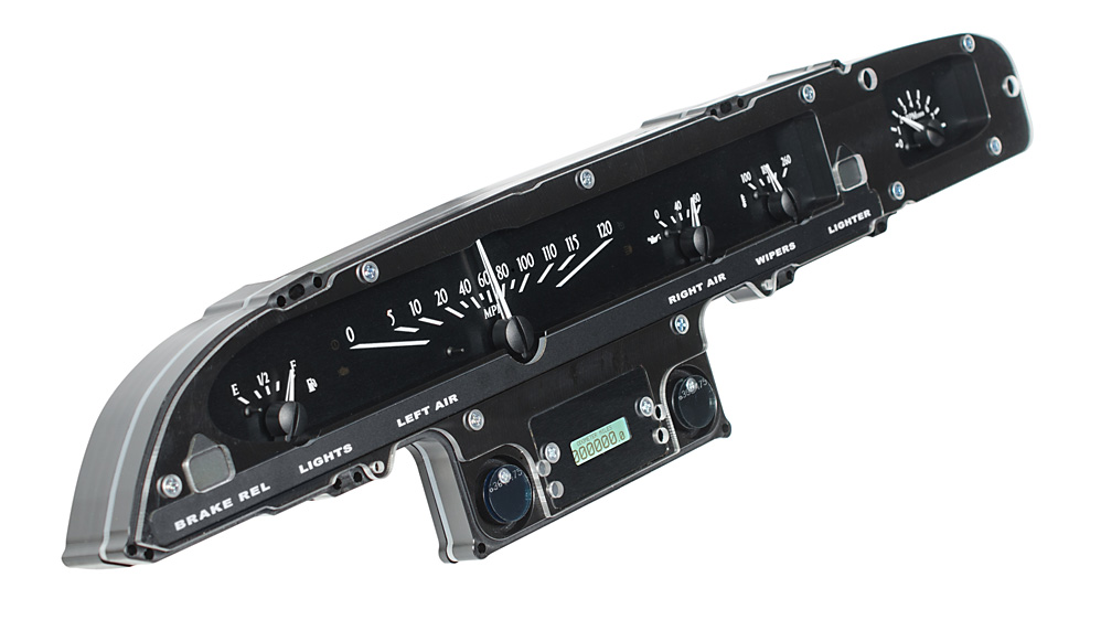 VHX-61F-GAL-K-W: Black Alloy Background, White Lighting