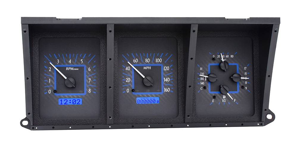 VHX-73F-PU-C-B: Carbon Fiber Background, Blue Lighting