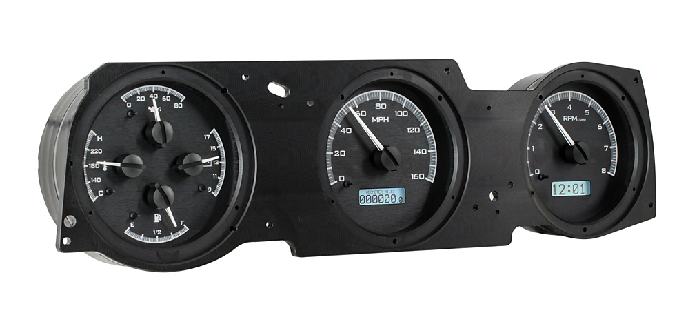 VHX-70o-CUT-K-W: Black Alloy Background, White Lighting