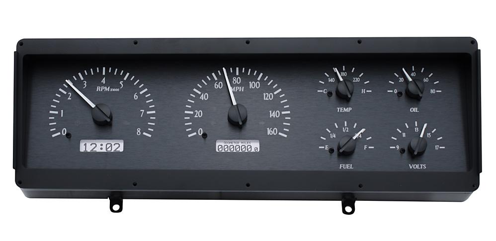 VHX-78o-CUT-K-W: Black Alloy Background, White Lighting