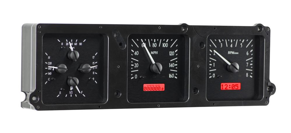 VHX-70B-SKY-K-R: Black Alloy Background, Red Lighting