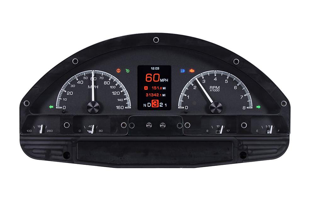 HDX-56F-PU-K: Black Alloy Background with Indicators shown.