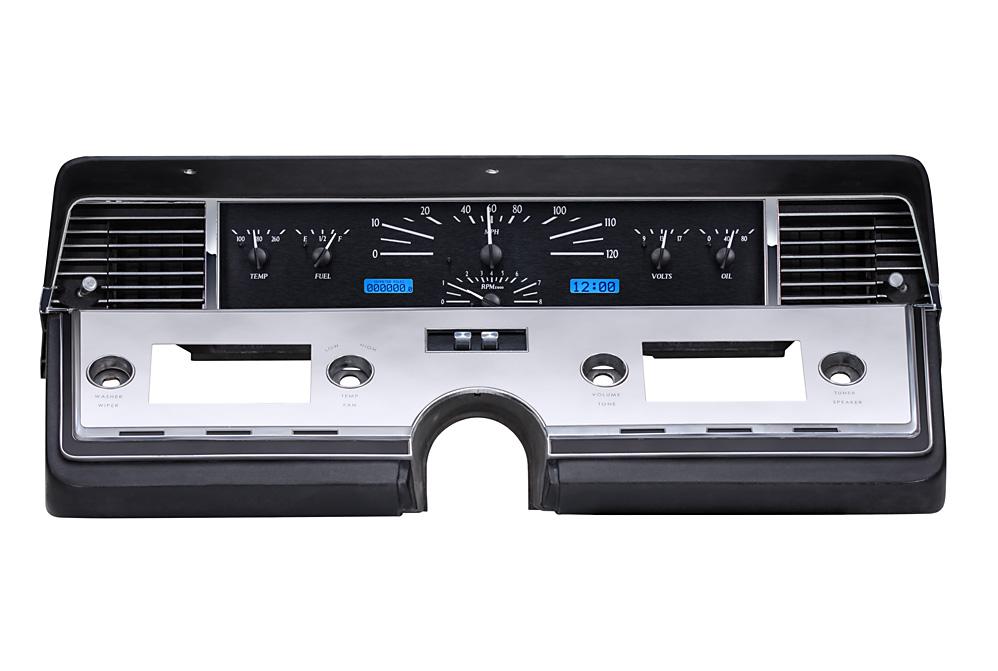 VHX-66L: Black Alloy Background, Blue Lighting