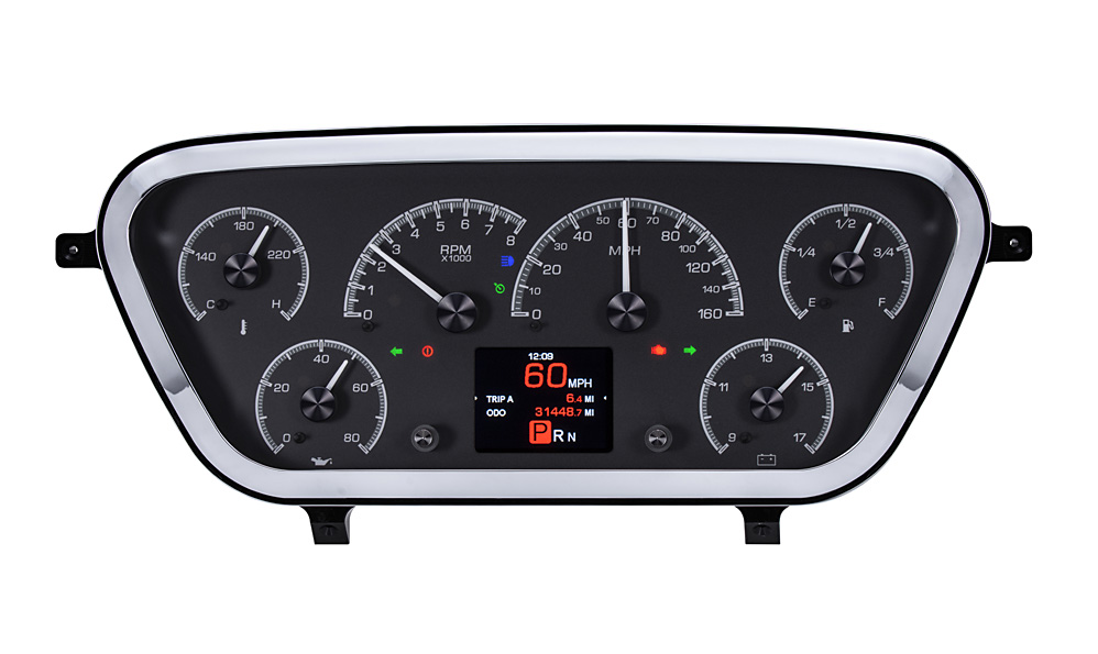 HDX-53F-PU-K: Black Alloy Background with Indicators shown.