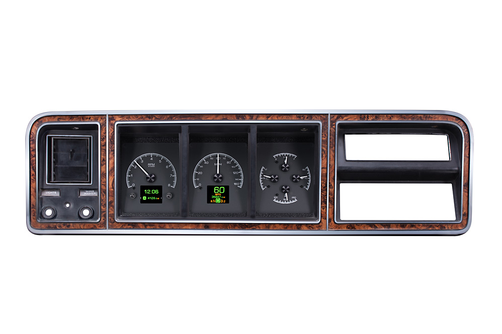 Black Alloy Background shown with OEM dash/ trim/ bezel/ facia.