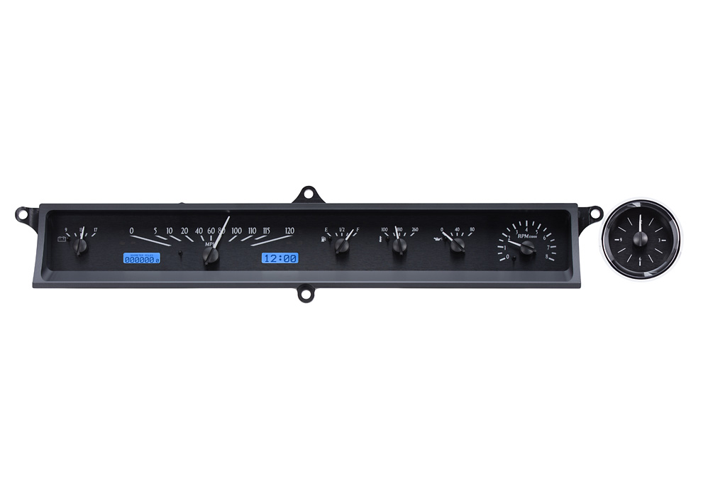 VHX-63C-CAD-K-B: Black Alloy Background, Blue Lighting