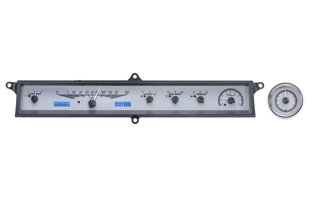 VHX-63C-CAD-S-B: Silver Alloy Background, Blue Lighting