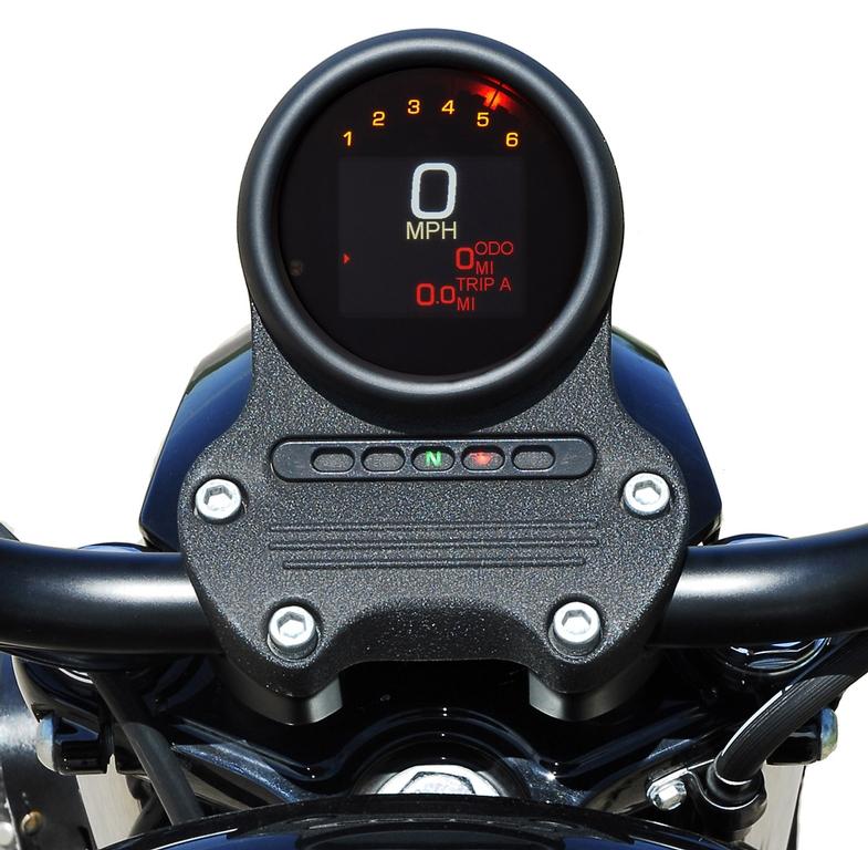 MLX-3000/3004/3012-K with Black Bezel in stock Harley Davidson mount