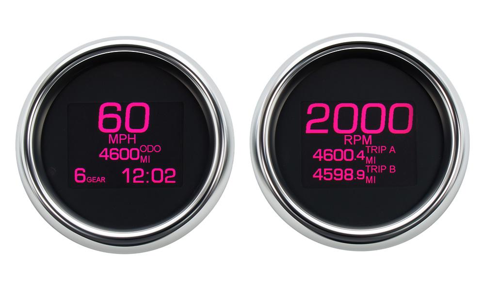 MLX-8696/8604 Speedo & Tach with Chrome Bezels