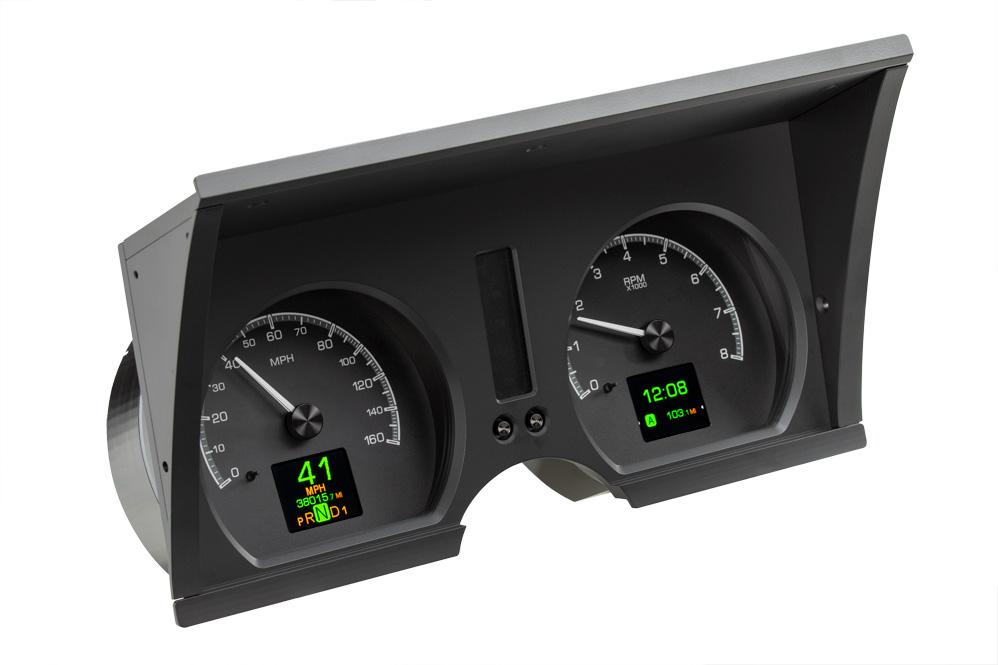 HDX-78C-VET-K: Speedometer/ Tachometer section Black Alloy Background