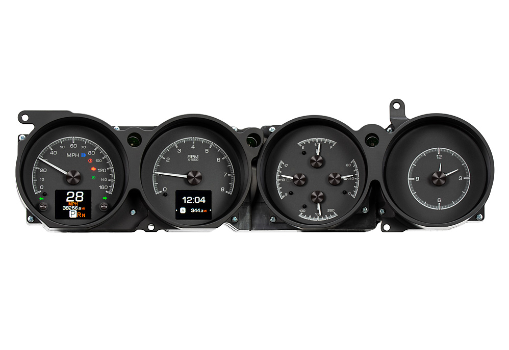 HDX-70D-CLG-K: Black Alloy Background with Indicators shown.