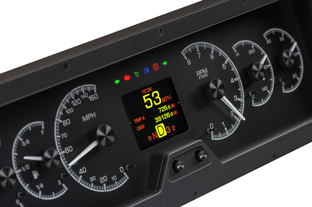 HDX-78O-CUT-K: Black Alloy Background with Indicators shown.