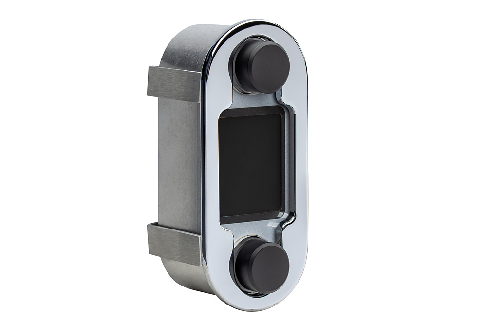 DCC-4000-C-S: Chrome Bezel and Silver Alloy Background