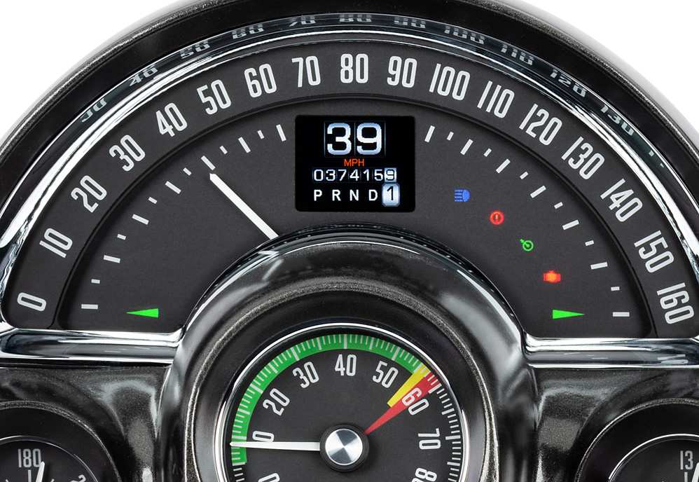 1958-62 Chevy Corvette gauges with Indicators shown.