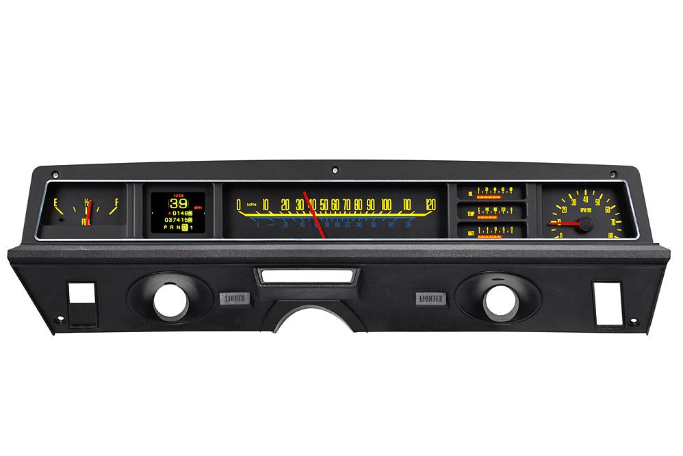 1971- 76 Caprice/ Impala gauges shown with OEM dash/ trim/ bezel/ facia.