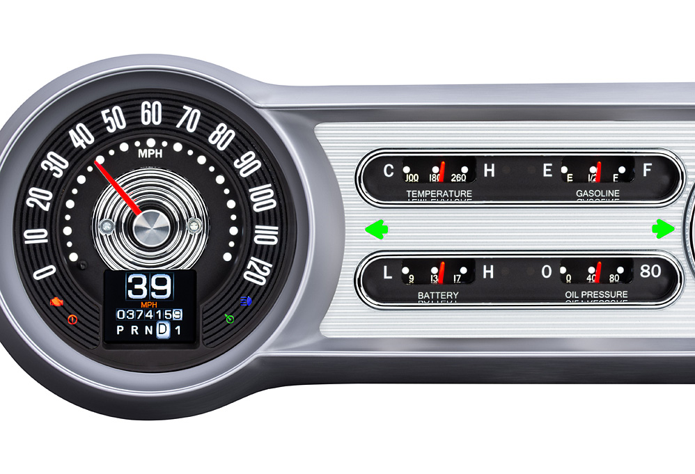 1953- 54 Chevy Car RTX Instruments with Indicators shown.