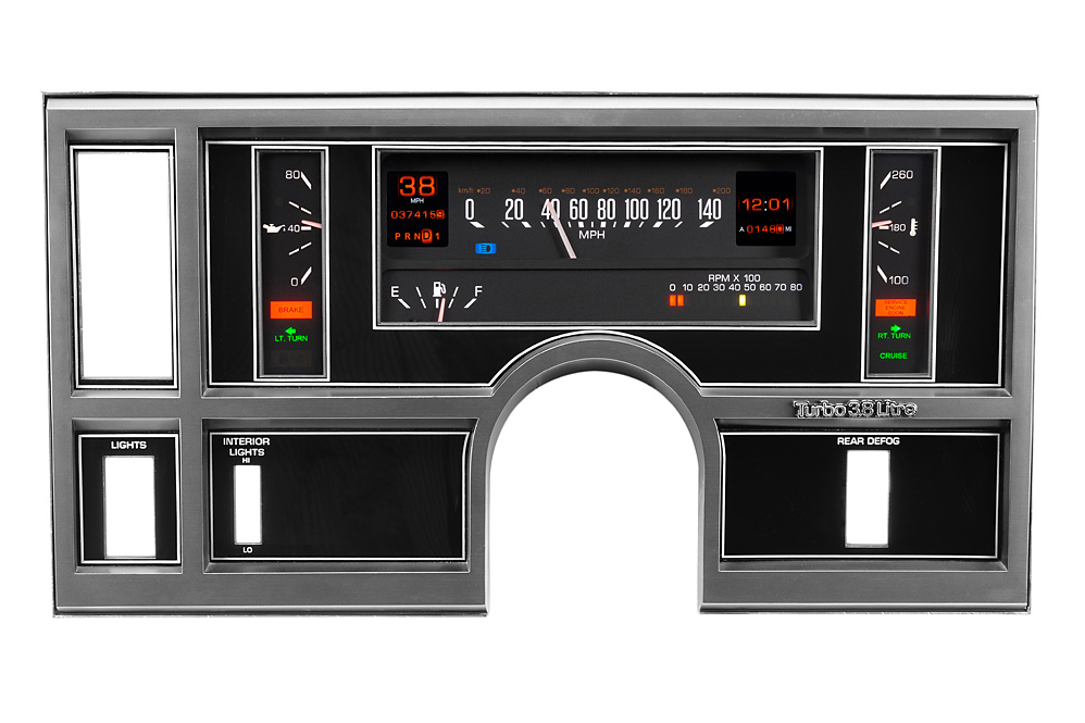1984-87 Buick Regal/ Grand National shown with OEM dash/ trim/ bezel/ facia with Indicators shown.