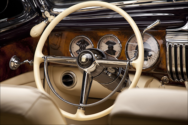 1947 Cadillac Woodgrain Dash