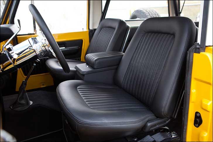 1969 Ford Bronco Black Leather Interior