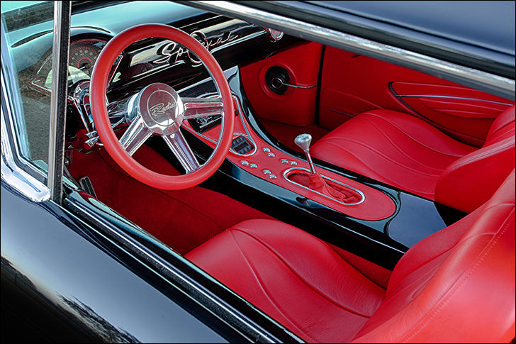 Carrillo 1957 Buick: Red Leather Interior