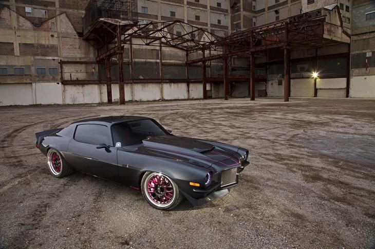 Pink Camaro Hot Rod
