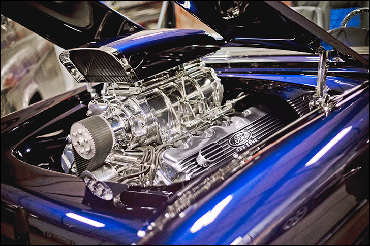 G3 Rods' '55 Chevy Bel-Air Convertible: Under the hood