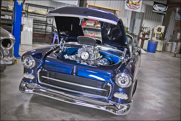 G3 Rods' '55 Chevy Bel-Air Convertible: headlights