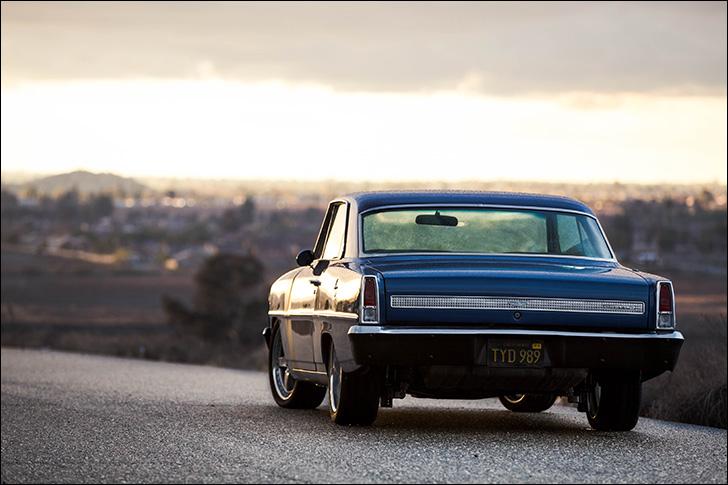 Jeff King '67 Nova: Driving off into the horizon