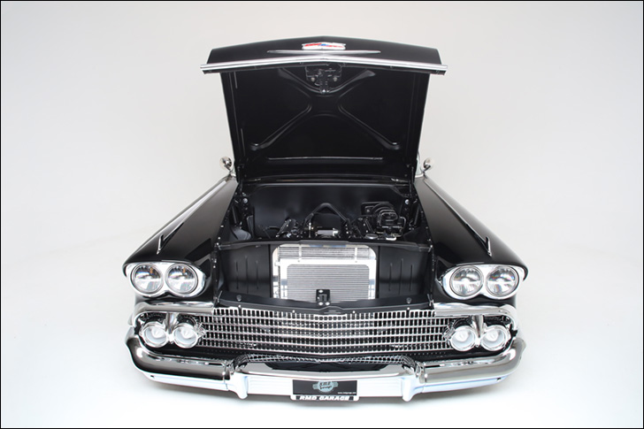 rmd garage '58 impala: deep, dark black