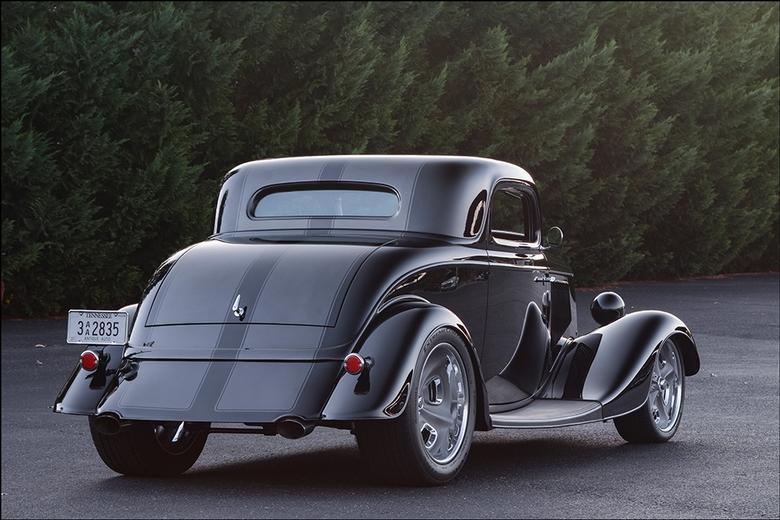 Lokar 1934 Ford Coupe: Rear