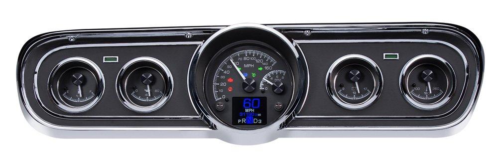 Black Alloy Background w/ Indicators shown. Shown with optional gauge carrier/ bezel.
