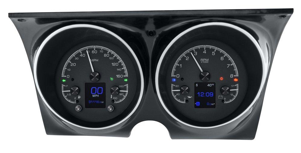 Black Alloy Background w/ Indicators shown in optional gauge carrier/ bezel.