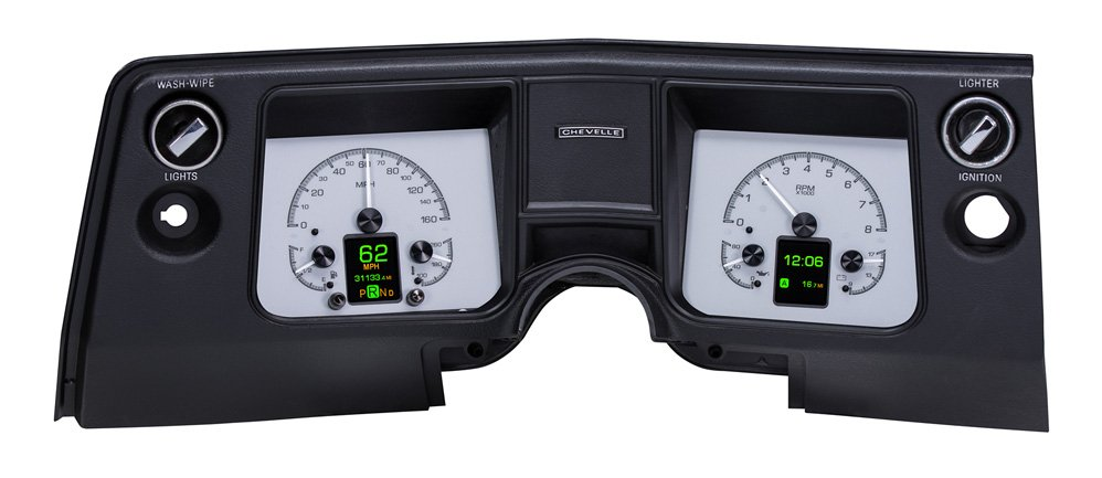 Silver Alloy Background shown with OEM dash/ trim/ bezel/ facia.