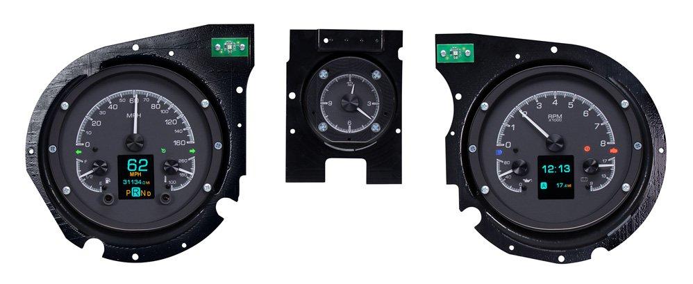 HDX-69C-CVL-K: Black Alloy Background w/ Indicators shown