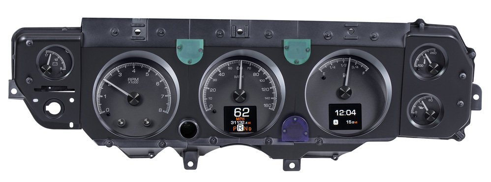Black Alloy Background shown with optional gauge carrier.