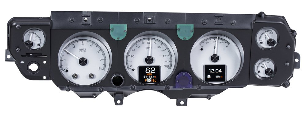 Silver Alloy Background shown with optional gauge carrier.