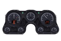 Black Alloy Background shown with optional gauge carrier/ bezel.
