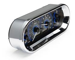 Carbon Fiber Background, Blue Lighting