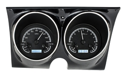 Black Alloy Background, White Lighting shown with optional gauge carrier/ bezel.
