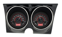 Carbon Fiber Background, Red Lighting shown with optional gauge carrier/ bezel.