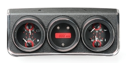 Carbon Fiber Background, Red Lighting shown with OEM dash/ trim/ bezel/ facia.